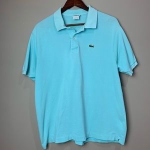 Men's Lacoste Short Sleeve Polo - Turquoise color